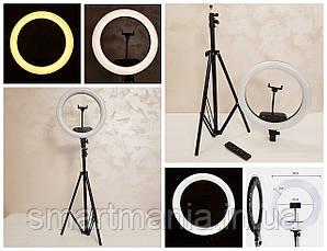Лампа кільцева світлодіодна AL-360 зі штативом і пультом 36 см