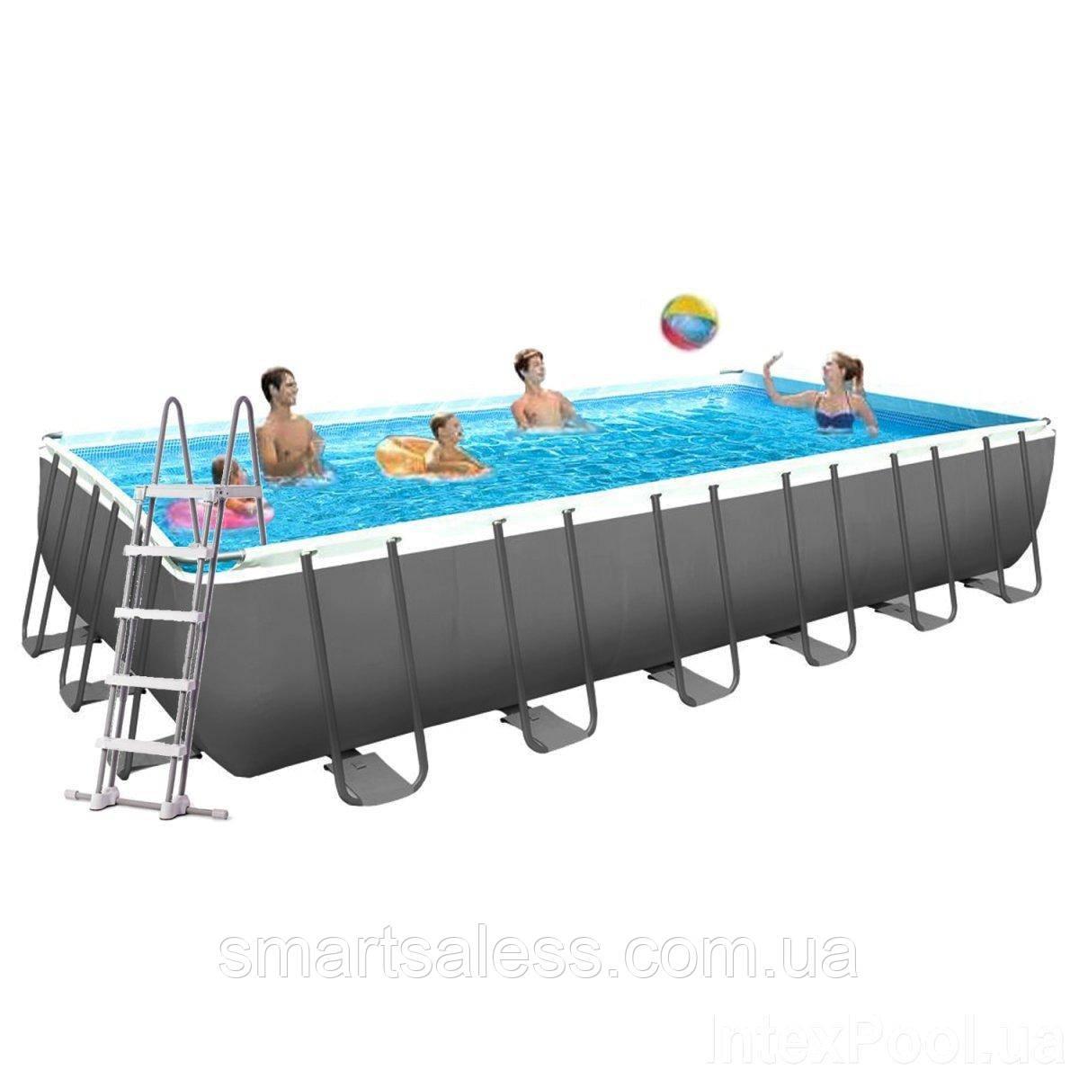 Каркасний басейн Intex 610 x 305 x 122 см (5г/год) з насосом, сходами, тентом, підстилкою і набором для догляду