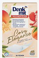 Denkmit Trocknertücher Cosy Elegance Ароматизированные салфетки для сушки белья 36 шт.