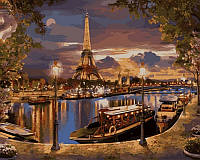 Холст по номерам Турбо Париж Вечер (VP517) 40 х 50 см