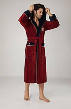 Чоловічий махровий халат Nusa. Бамбук 100% бавовна