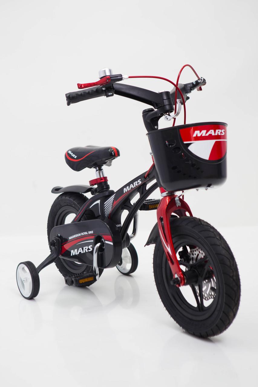 Дитячий легкий магнієвий велосипед зі складним кермом MARS-14 Дюймів Чорний від 4 років
