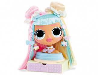 LOL Surprise OMG Манекен для причесок Candylicious Styling Head Голова для моделирования причесок лол Бон Бон