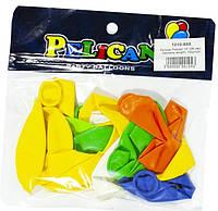 """Воздушные шары 1010-888 набор-10шт """"Pelican"""", пастель ассорти 26см"""