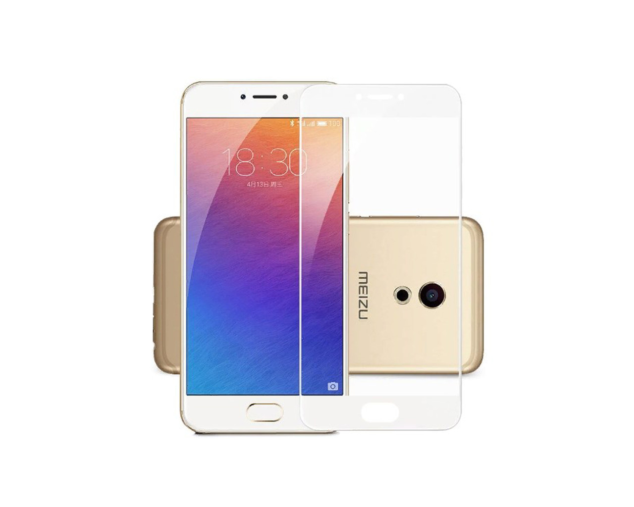 Защитное 3D стекло Full Cover для Meizu M3 Note White (1965)