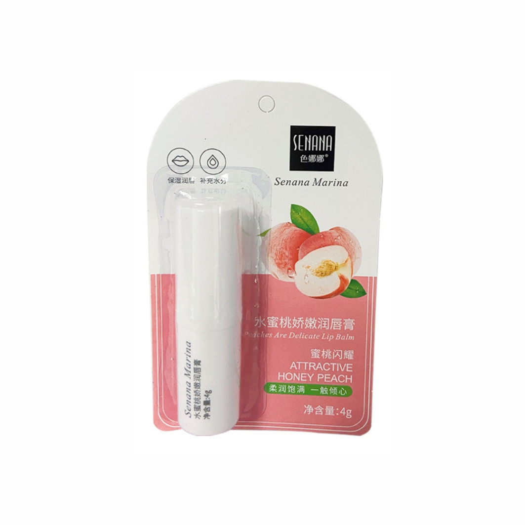 Увлажняющий бальзам для губ с экстрактом персика Senana Attractive Honey Peach