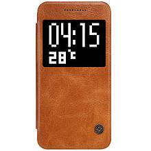 Чехол книжка Nillkin Qin Series Smart для HTC One A9 коричневый