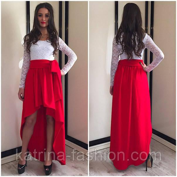 7a7b5c600d01803 Женское красивое платье в пол с дорогим гипюром (3 цвета) - KATRINA FASHION  -