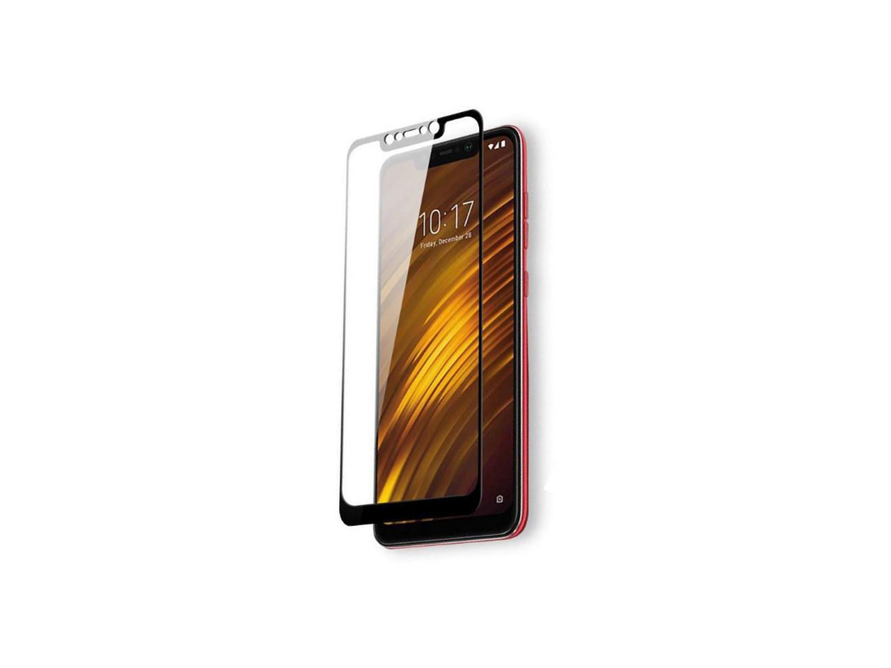 Защитное 5D cтекло Nano Flexible GLASS ITOP для Xiaomi Pocophone F1 Full Cover Черный
