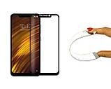 Защитное 5D cтекло Nano Flexible GLASS ITOP для Xiaomi Pocophone F1 Full Cover Черный, фото 2