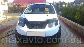 Мухобойка, дефлектор капота CHERY IndiS S18D/(Chery Beat) с 2011 г.в.