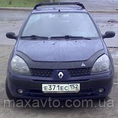 Мухобойка, дефлектор капота Renault Clio Symbol з 2001-2008 р. в.