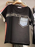 Женский  летний костюм с джинсами (Турция); разм 44, 46,48,50 (баталы), фото 2