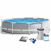 Бассейн каркасный Intex 26702, 305х76см, с фильтр насосом