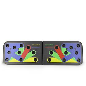 Платформа з упорами для віджимання від підлоги foldable push up board JT-006