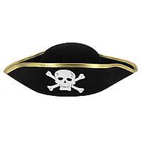 Шляпа пирата овальная для карнавала, утренника, вечеринки