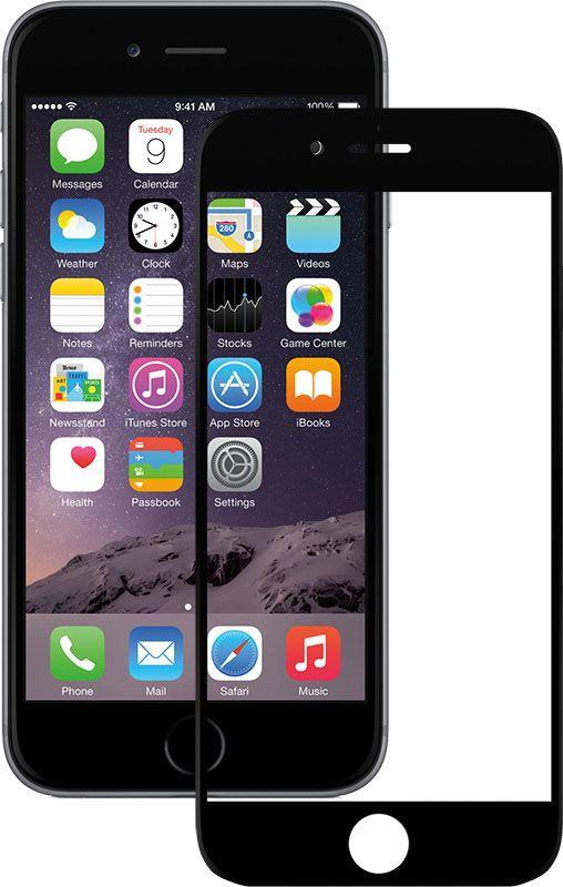 Защитное стекло Mocolo 2.5D Full Cover Tempered Glass iPhone 6/6s Plus Silk Черный (52129)