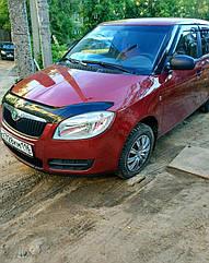 Мухобойка, дефлектор капота Skoda Fabia (5J) с 2007-2010 г.в.