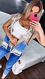 Женский батальный летний костюм с джинсами (Турция); разм М,Л,ХЛ,ХХЛ,ХХХЛ,, фото 3