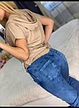 Женский батальный летний костюм с джинсами (Турция); разм М,Л,ХЛ,ХХЛ,ХХХЛ,, фото 4