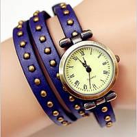 Винтажные часы браслет JQ blue ретро
