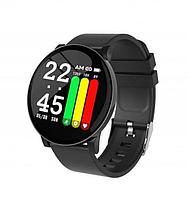Наручные часы Smart S9 с трекером будильником шагомером удаленной камерой черного цвета фитнес-браслет.