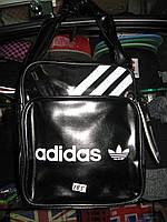 Сумка Adidas чорна з білим маленька