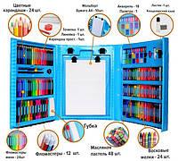 ✨ Чемоданчик 208 предметов с мольбертом для рисования и дизайна ✨, фото 1