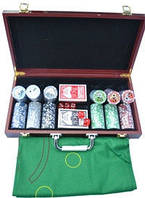 Набор для игры в покер 300ф с номиналом.