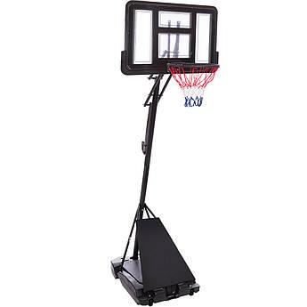 Стойка баскетбольная со щитом (мобильная) TOP (щит-PC р-р 110х75см, кольцо-сталь (16мм) d-45см, регул.высота