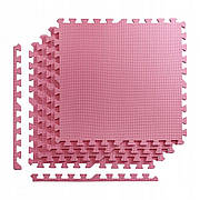 Мат пазл (ластівчин хвіст) килимок татамі 4FIZJO Mat Puzzle EVA 100 x 100 x 2 см 4FJ0168 Black/Red