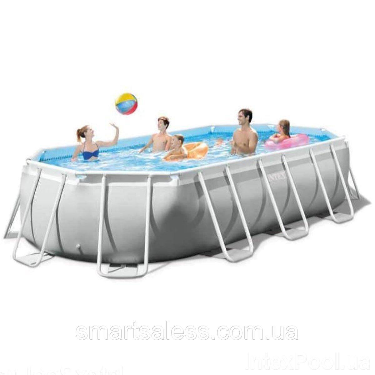 Каркасный бассейн Intex 503 x 274 x 122 см, чаша+каркас, прямоугольный, сборный