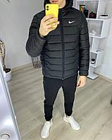 Куртка мужская Nike (Найк) демисезонная весенняя осенняя до 0*(С) короткая | Пуховик мужской ЛЮКС качества, фото 1