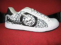 Кросівки Classica біло/чорні череп. Арт № 0018