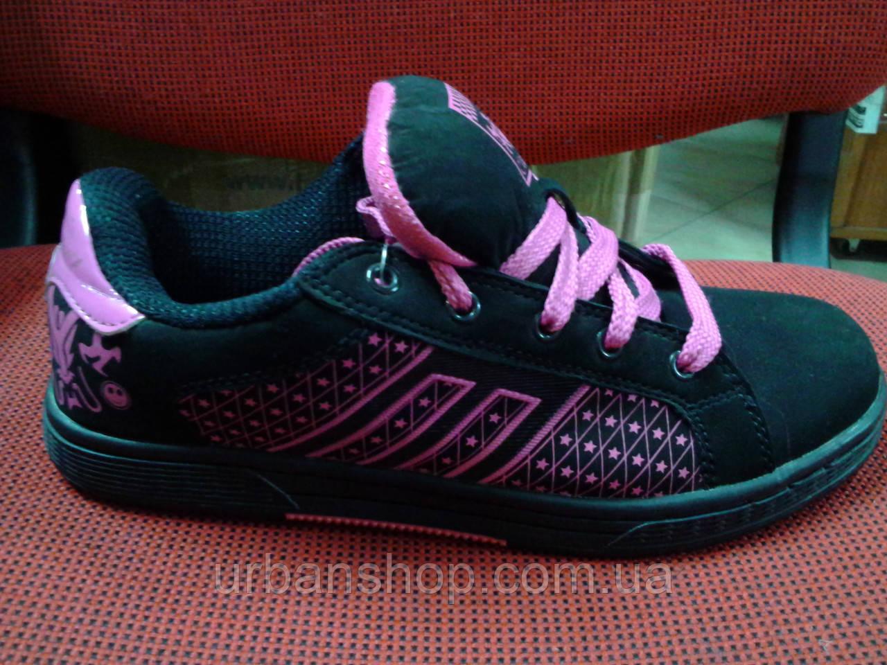 Кросівки Classica чорно/рожеві зірки. Арт № 0021