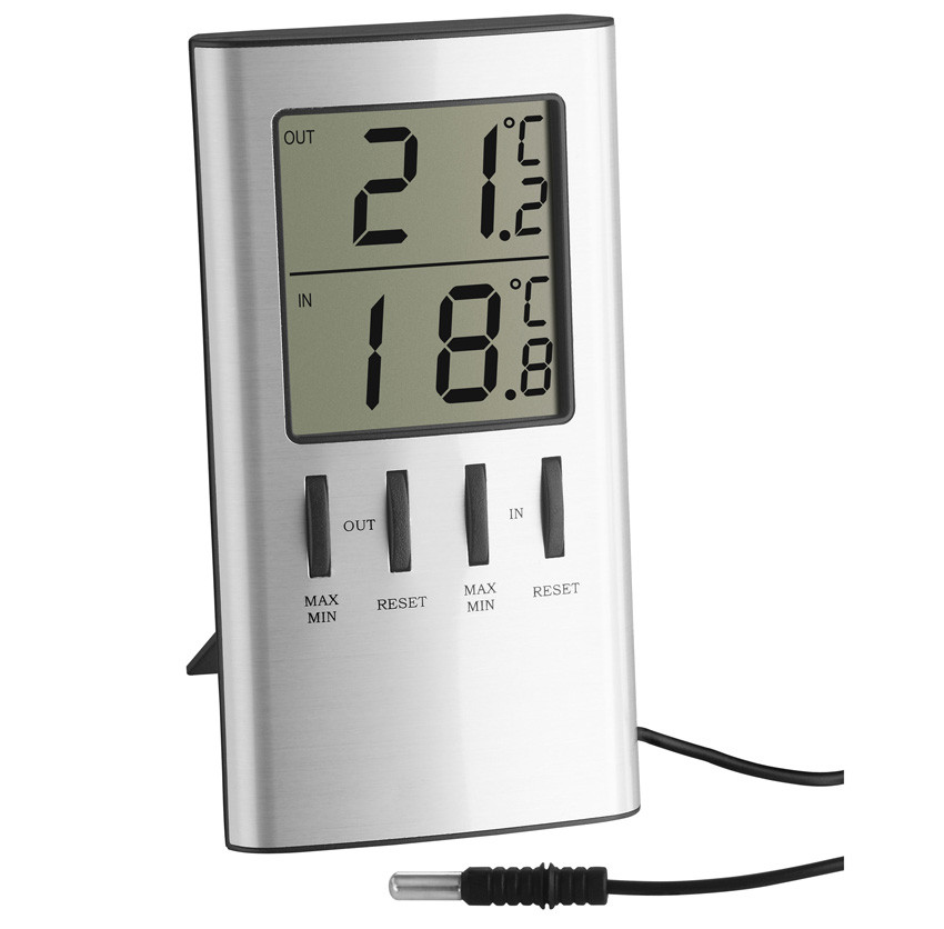 Термометр цифровой TFA 301027 внешний проводной датчик 120х64х22 мм