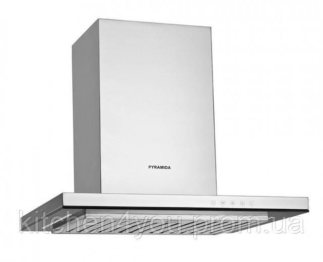 Вытяжка кухонная Pyramida HEF 22 P-600 (600 мм.) нержавеющая сталь / черное закаленное стекло