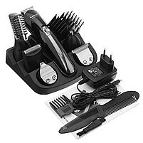 Тример для носа і вух, стрижки бороди і волосся акумуляторний Kemei 600 11 в 1, фото 7
