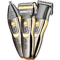 Триммер для стрижки бороды и волос беспроводной Gemei 3 в 1, фото 2