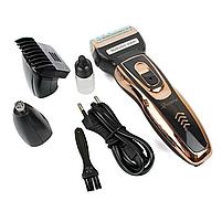 Триммер для стрижки бороды и волос беспроводной Gemei 3 в 1, фото 3