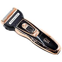 Триммер для стрижки бороды и волос беспроводной Gemei 3 в 1, фото 5