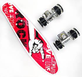 Пенни борд со светящимися колесами Best Board Рок