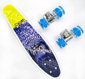 Пенни борд со светящимися колесами Best Board Сова