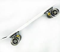 Пенні борд з ручкою з світяться колесами Best Board Графіті, фото 2