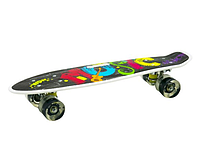 Пенні борд з ручкою з світяться колесами Best Board Графіті, фото 3