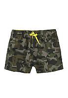 Детские пляжные шорты милитари Minoti 98/158 см 104-110 см