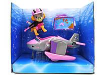 Герои Щенячий патруль Скай (Подводный транспорт, собачка, значок) свет, звук Paw Patrol, фото 2