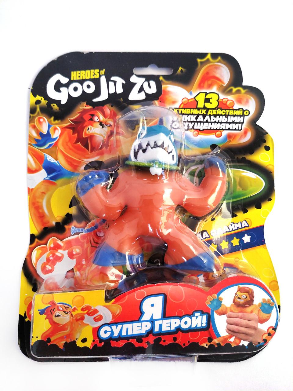 Стретч-антистрес Goo Jit Zu іграшка тягучка Гуджистсу супергерой Молот
