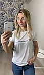 Женская футболка, турецкая вискоза, р-р 42-44; 46-48; 50-52; 54-56 (белый), фото 2