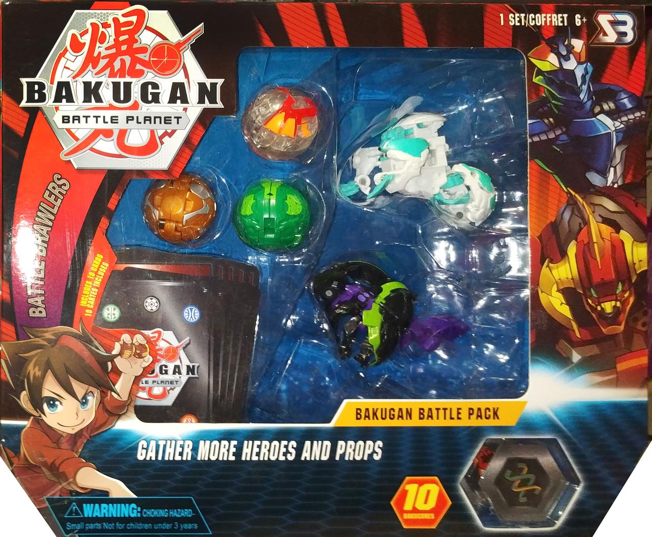 Набір іграшок героїв бакуган bakugan 5 штук вид 1